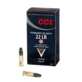 CCI Standard Velocity Ammunition 22 Long Rifle 40GN Lead Round Nose (500)