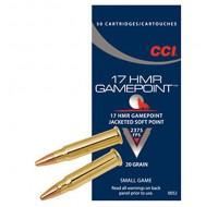 CCI Ammunition 17HMR 20GN Game Point JSP (50)