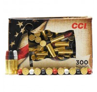 CCI High Velocity Ammunition 22 Long Rifle 40GN Red, White, Blue Coasted Lead Round Nose (300)