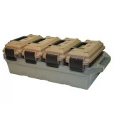 MTM 4-Can Ammo Crate with 30 Caliber Cans Dark Earth
