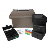 MTM Ammo Can ACC223 with 4 Flip-Top Ammo Boxes 17 Remington, 204 Ruger, 223 Remington 100-Round Plastic Black