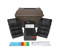 MTM Ammo Can ACC9 with 10 Flip-Top Ammo Boxes 380 ACP, 9mm Luger 100-Round Plastic Black