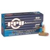 PPU Ammunition 9mm 115gn JHP (20)