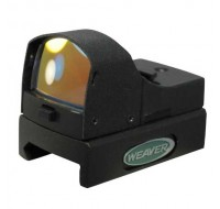 Weaver Micro Dot Reflex Red Dot Sight 4 MOA Dot with Weaver-Style Mount Matte